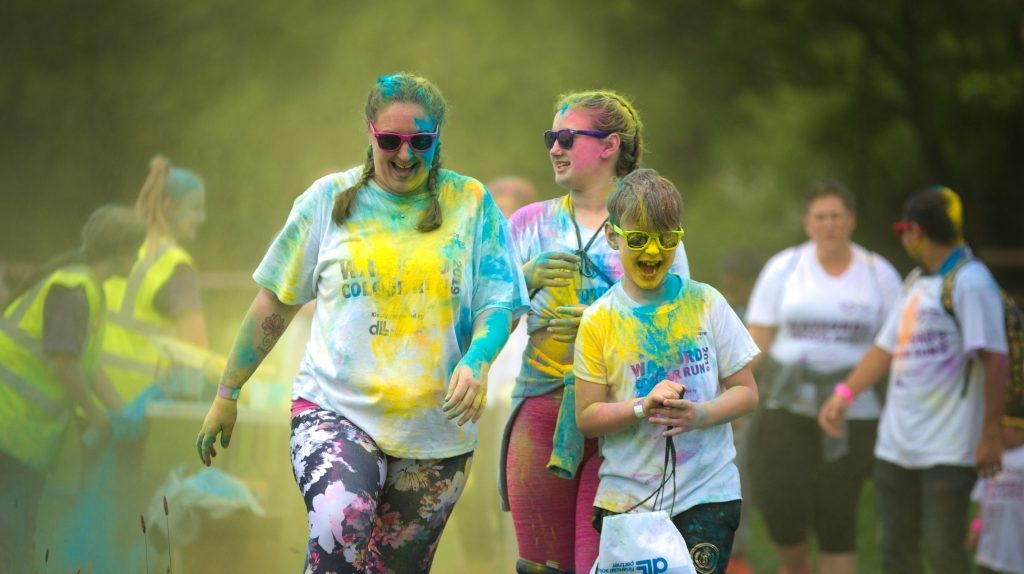 "alt=""Watford Colour Run 2019 - Aldenham Country Park"""